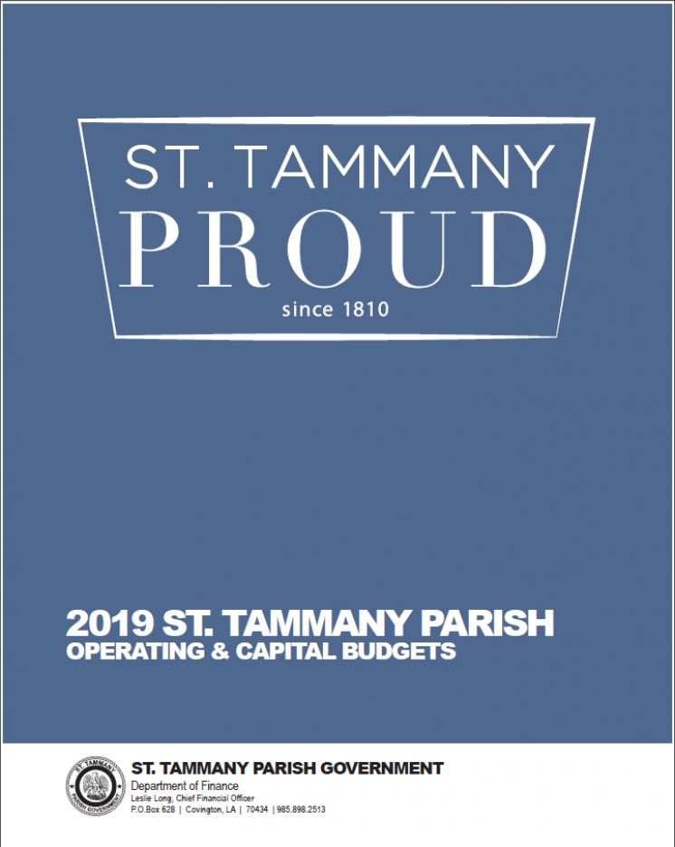 St  Tammany Parish Government Introduces 2019 Budget