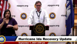 President Cooper Gives Update on Hurricane Ida Recovery